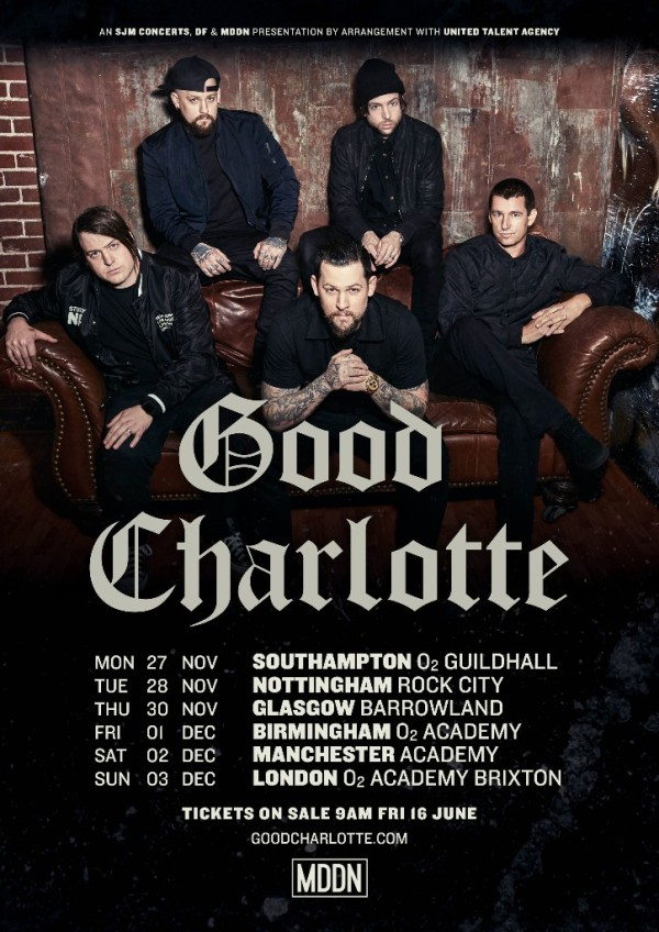 good charlotte tour